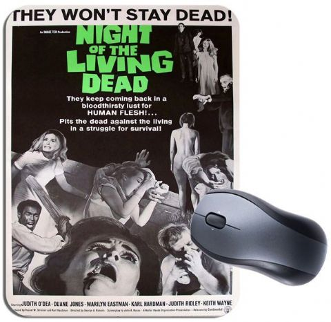 Night of The Living Dead Vintage Movie Poster Mouse Mat. High Quality Mouse Pad